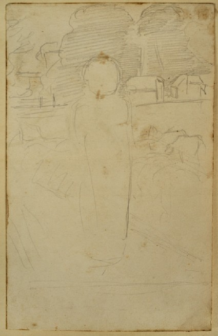 Study of a Child standing in a Landscape