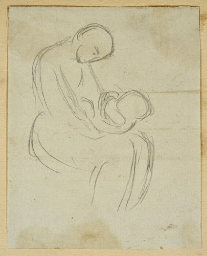 Mother cradling a Baby on her Knee