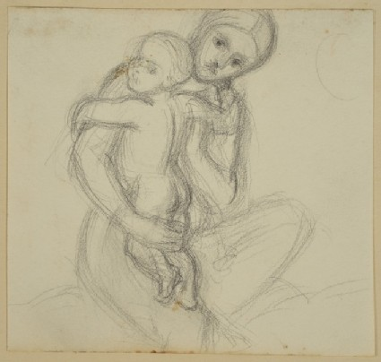 Study for the Virgin holding the Christ-child, for 'The Triumph of the Innocents'