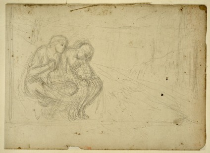 Compositional Study of two Figures in a Landscape
