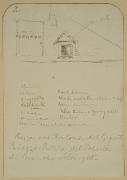 Recto: Study of a Roof  Verso: Study of Decoration