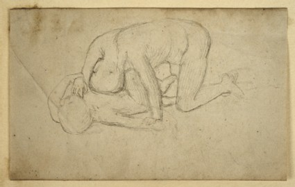 Recto: Study of two Figures after a Fight