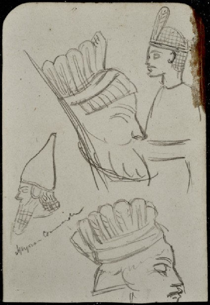 Study of an Assyrian Head-dress