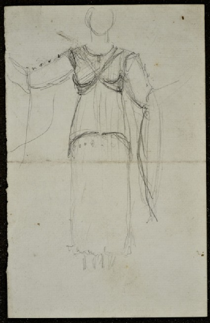 Study of a draped Grecian female figure