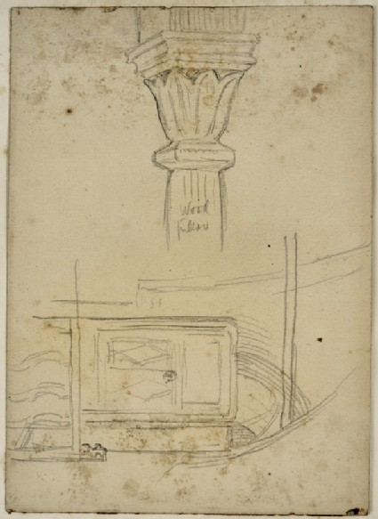 Study of a Pillar and other architectural Elements