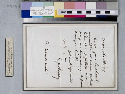 Letter: Delacroix to Henry Pierret, undated