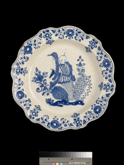 Plate with a Chinese figure