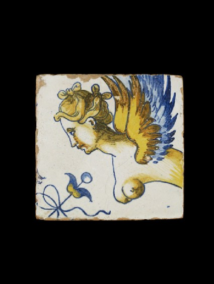 Tile with a grotesque figure