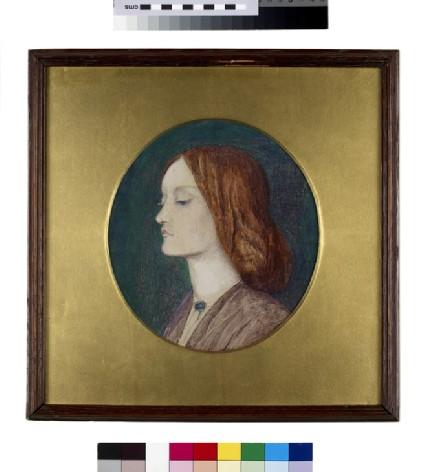 Portrait of Elizabeth Siddal facing left