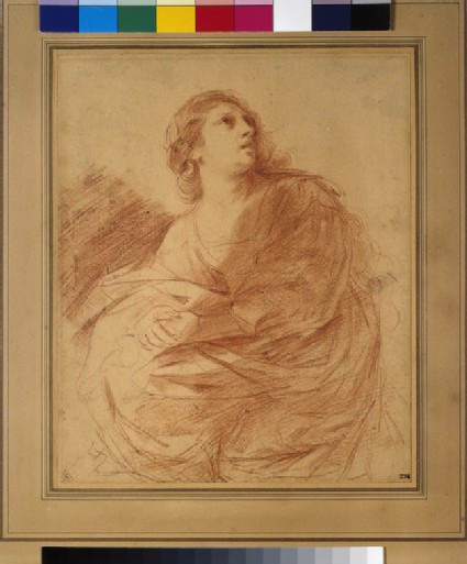 Woman with clasped hands looking upwards (a sister of Lazarus)