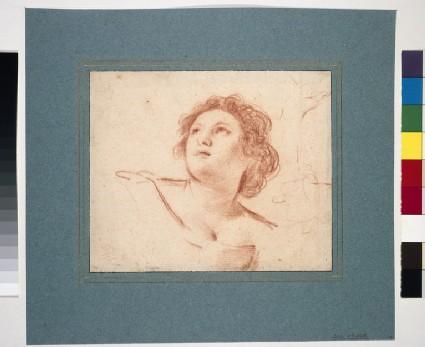 Recto: Head of Aurora  <br />Verso: Studies of Aurora's right hand
