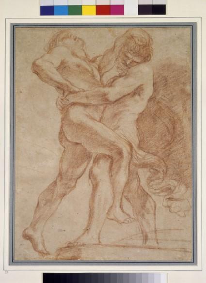 Hercules wrestling with Antaeus