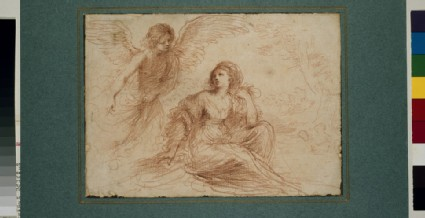 An angel appearing to Hagar and Ishmael