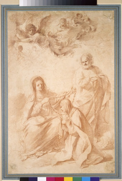 The Virgin, St Theresa, St Joseph, with Angels and Putti above