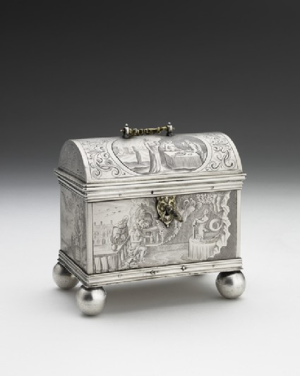 Casket with handle