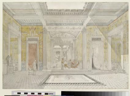 A Pompeian interior