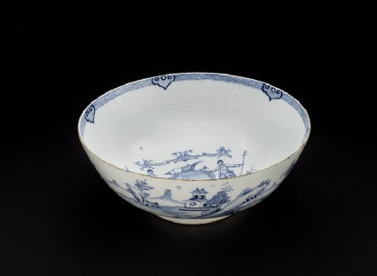 Punch Bowl with mottoes from the Ancient and Honourable Society of Bucks