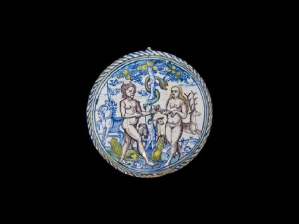 Bowl with Adam and Eve
