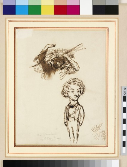 Caricature of Algernon Charles Swinburne