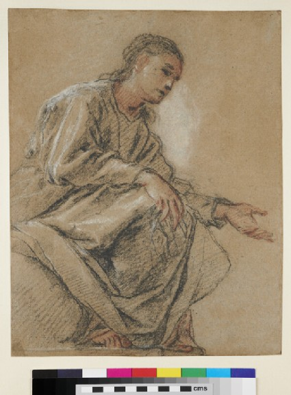 Study for the seated Virgin