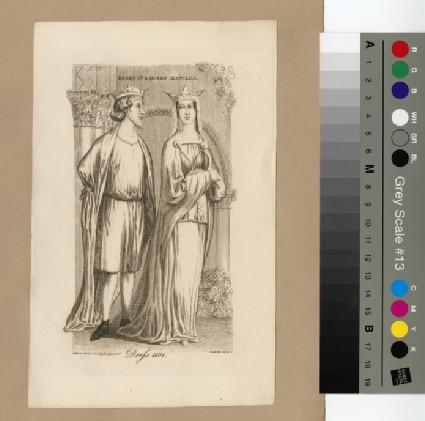 Portrait of Henry I and Queen Matilda