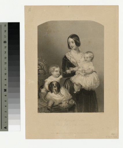 Portrait of Queen Victoria, The Prince of Wales and the Princess Royal