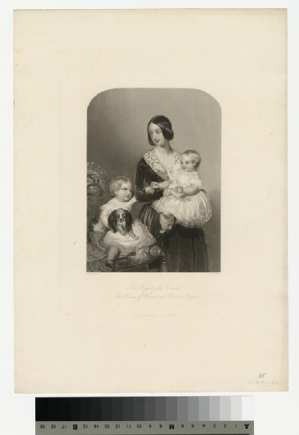 Portrait of Queen Victoria, with the Prince of Wales and the Princess Royal