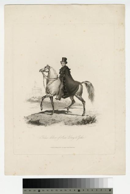 Portrait of Albert, on horseback