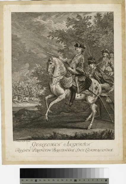 Portrait of Prince William Augustus, Duke of Cumberland on horseback