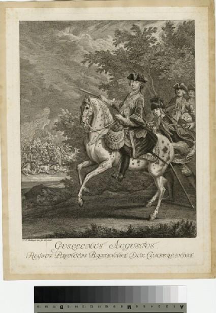 Portrait of Prince William Augustus, Duke of Cumberland on horseback