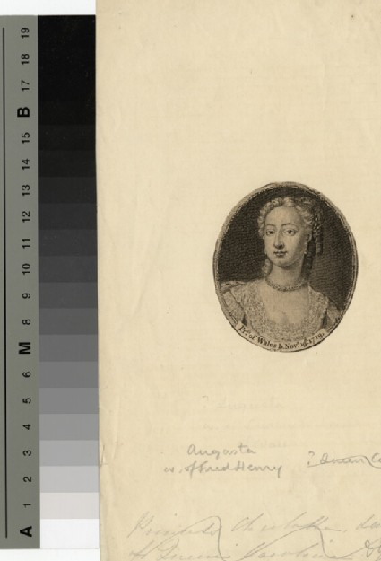 Portrait of Princess Augusta of Wales