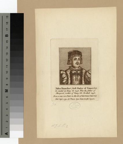 Portrait of John Beaufort, 1st Duke of Somerset