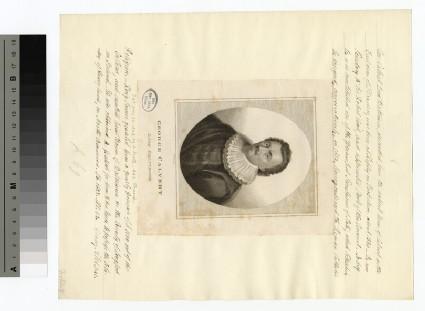 Portrait of George Calvert, 1st Baron Baltimore
