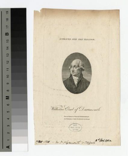 Portrait of Earl Dartmouth