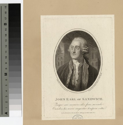 Portrait of John Montagu, 4th Earl of Sandwich