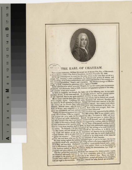 Portrait of William Pitt, 1st Earl of Chatham