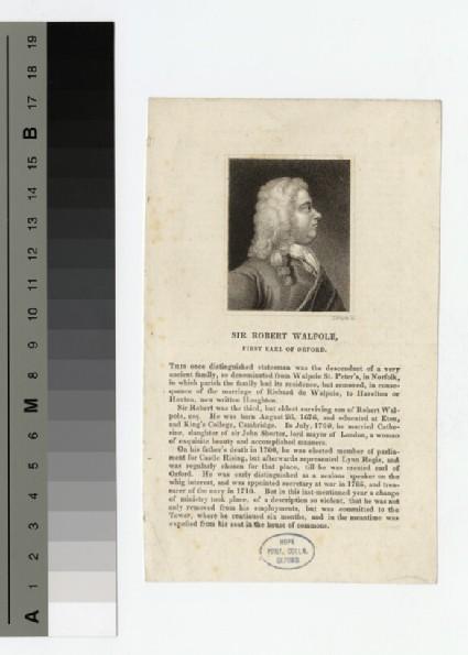 Walpole, Sir R