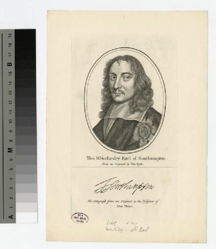 Portrait of Earl Southampton