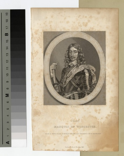 Portrait of Marquis Worcester