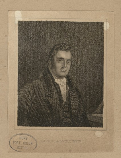 Portrait of Lord Althorpew