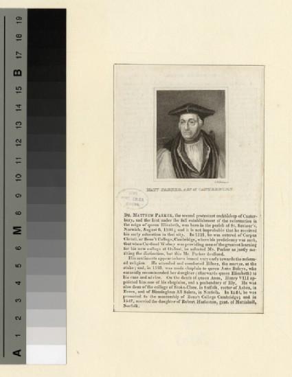 Portrait of Archbishop Parker