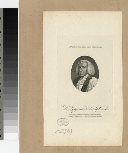 Portrait of Dr Pretyman, Bishop of Lincoln, illustration to The Senator