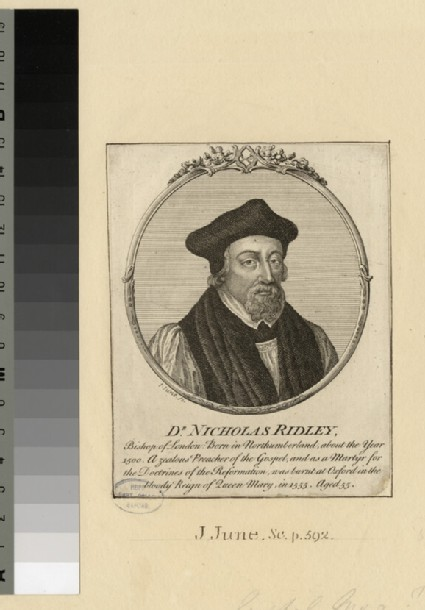 Portrait of Bishop Ridley