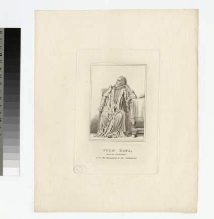 Portrait of Revd J. Boys, from the monument at Canterbury