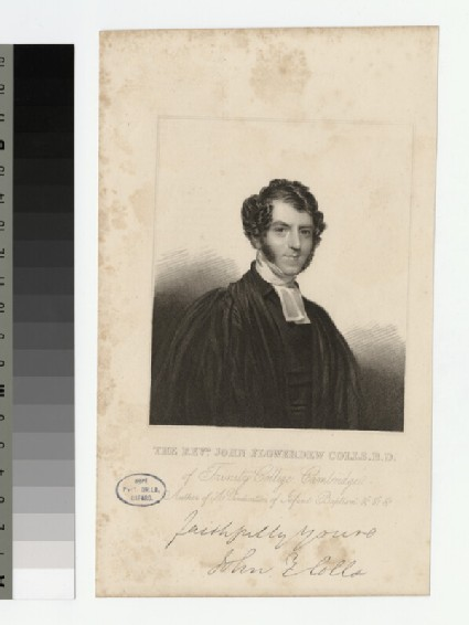 Portrait of Revd J. F. Colls