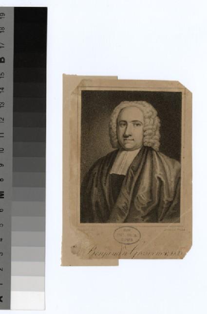 Portrait of Revd Dr B. Grosvenor