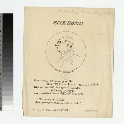 Portrait of Revd W. H. Hay