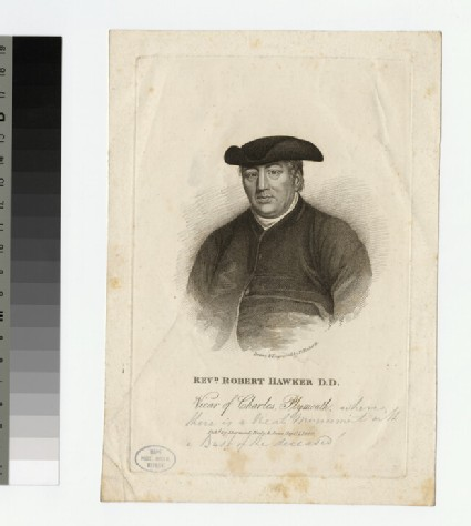 Portrait of Revd Dr R. Hawker