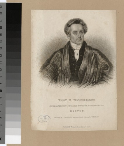 Portrait of E. Henderson