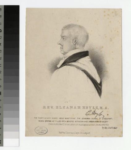 Portrait of Revd E. Hoyle